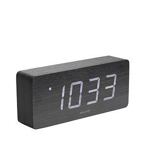 Karlsson LED Tube Alarm clock black