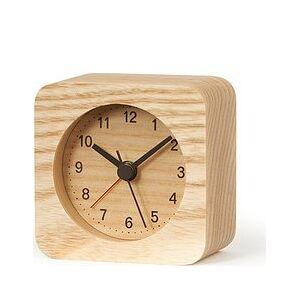 Lemnos Rest alarm clock square light wood