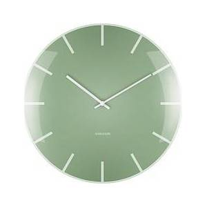 Karlsson Dome glass wall clock green