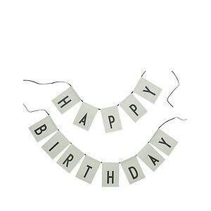 Design Letters Happy Birthday Garland green