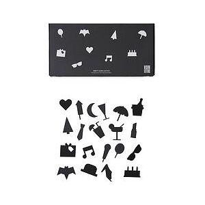Design Letters Party Design Letters Icons for board 20 pcs. black