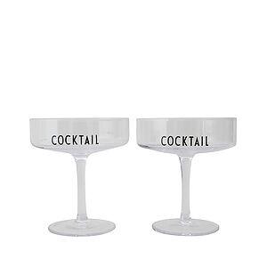 Design Letters Cocktail Glasses 2 pieces.