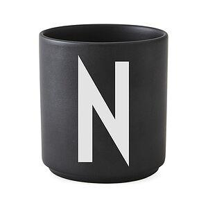 Design Letters AJ N Porcelain mug black letter