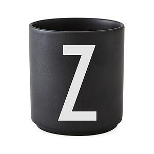 Design Letters AJ Z Porcelain mug black letter