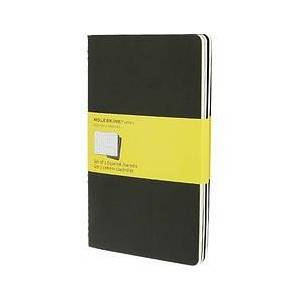 Moleskine Cahier L Notebooks 3 pcs. in black checkered form