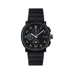 Alessi Wrist watch Tic15 3,8 cm steel bracelet black chronograph
