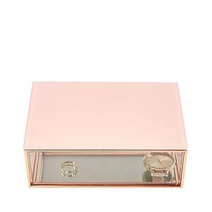 Stackers Jewelry box glass mini pink