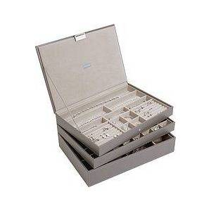 Stackers Jewelry box triple supersize supersize brown-grey