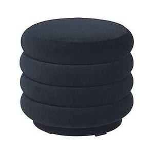 Ferm Living Round Puf small navy blue