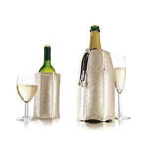 Vacu Vin Rapid Ice Covers for a bottle of wine and champagne platinum