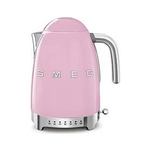 Smeg Style Electric kettle with temperature control 50's pastel pink