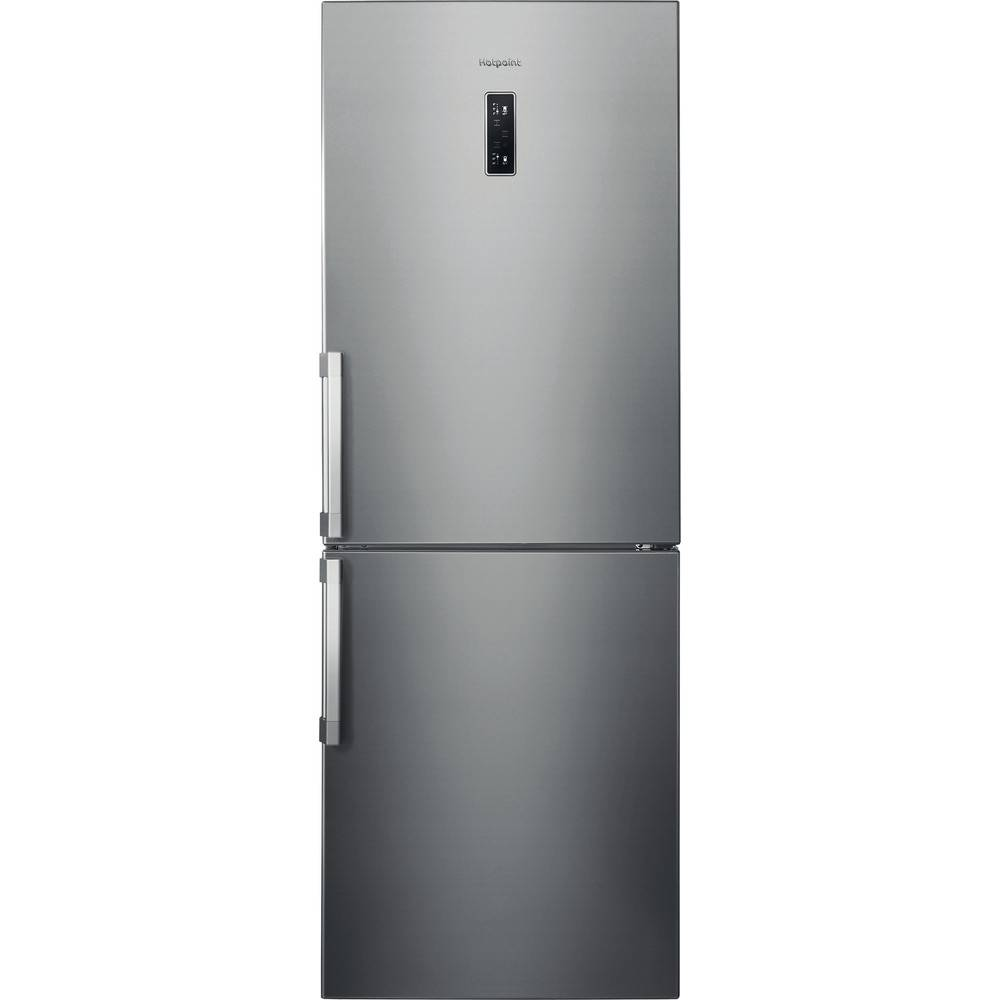 Hotpoint NFFUD191X Freestanding No Frost Fridge Freezer-Stainless Steel