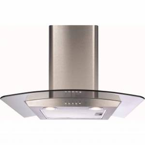 CDA ECP62SS 60cm Curved Glass Extractor Hood-Stainless Steel