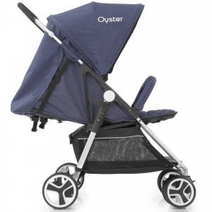 Oyster Twin Stroller Oxford Blue