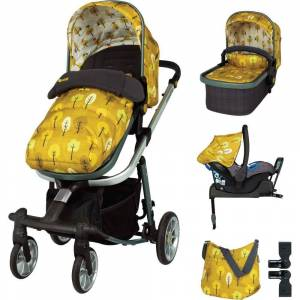 Cosatto CT4203 Giggle Quad Pram + Pushchair Whole 9 Yards Bundle ( 6 pcs) Spot the Birdie