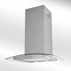 Luxair LA-70-ARTIS-CVD-SS 70cm Curved Glass Cooker Hood - Artis - Stainless Steel