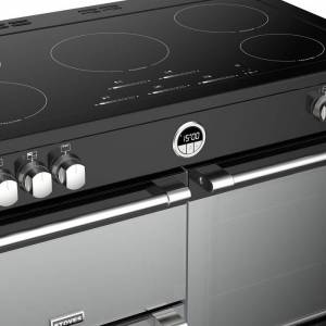 Stoves Sterling Deluxe STRDXS1000EiBK 100cm Electric Induction Range Cooker Black