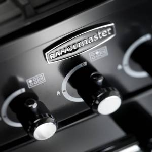 Rangemaster KCH100DFFBL/C Kitchener 100cm Dual Fuel Range Cooker Black