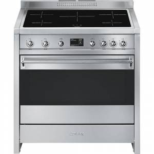 Smeg Opera A1PYID-9 90cm Electric Induction Cooker-Stainless Steel