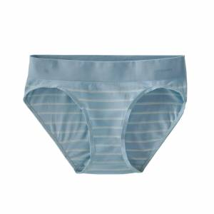 Patagonia Women's Active Briefs - Recycled Polyester, Sentinel Stripe Small: Big Sky Blue / M