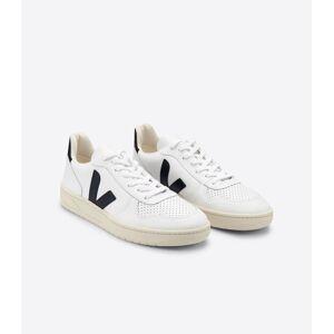 Veja Women's V-10 Leather, Extra White Black / 39
