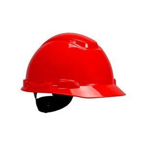 3M PELTOR H700 Hard Hat Helmet, Ratchet suspension, Dielectric 440v, Red, H-701N-RD