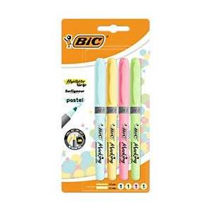 BIC Highlighter 1.6 mm Assorted Pastel Colours 4 Pieces