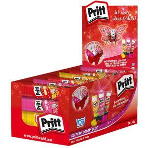 Pritt Glitter Glue Stick Red, Yellow & Pink 20g Pack of 24