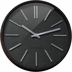 Orium by CEP Wall Clock 11045 35 x 4.8 cm Black, Silver