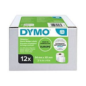 Dymo S0722420 Address/Shipping, Name Badge Labels 101 x 54 mm White 12 Rolls of 220 Labels