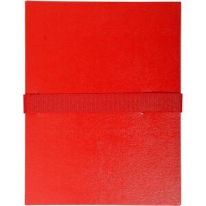Exacompta Expanding Folders 2645E A4 Red Vinyl Coated Paper 24 x 32 cm 10 Pieces