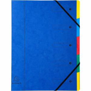 Exacompta Expanding Folders 5205E A4 Assorted Pressboard 24.5 x 32 cm 8 Pieces