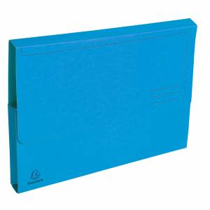 Exacompta Document Wallet A4 290gsm Blue Pack of 100