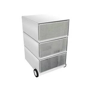 Paperflow Mobile Pedestal EasyBox with 3 Drawers Roller Grey, White 390 x 436 x 642 mm