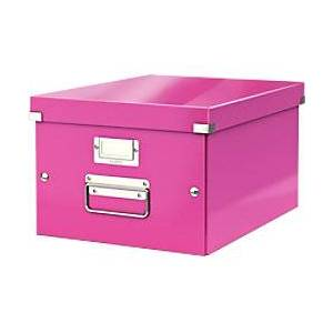 Leitz Storage Box WOW Click n Store A4 Pink 20 x 28.1 x 37 cm
