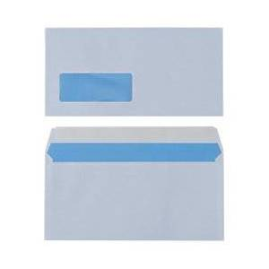 Universe Business Envelopes DL 110 x 220 mm 90 g/m White Window Peel and Seal 500 Pieces