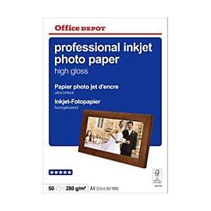 Office Depot Photo Paper Glossy A4 280gsm White
