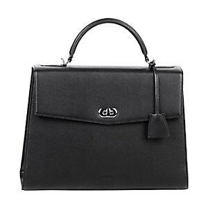 SOCHA Ladies Laptop Bag Audrey Black 13.3 Inch Synthetic Leather Black 40 x 12 x 28.5 cm