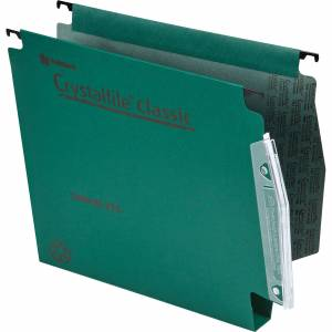 Rexel Lateral Suspension File Square-Base 30 mm 225gsm Green Pack of 50