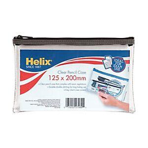 Helix Pencil Case 20 x 12.5 cm Clear