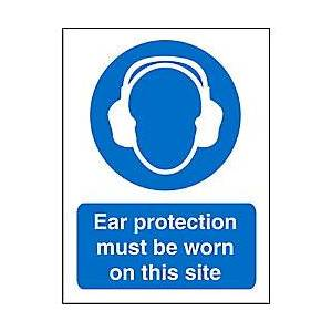 Unbranded Mandatory Sign Ear Protection vinyl 30 x 20 cm