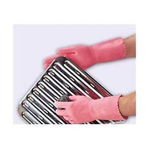 Polyco Gloves Gauntlet Latex Size 7 Pink