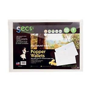 Seco File Wallet 30085-CL A4 Clear Oxo-biodegradable Polypropylene 23.5 x 33.5 x 1.5 cm 5 Pieces