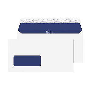 Pure Premium Pure DL Wallet Envelopes 110 x 220 mm Peel and Seal Window 120g/m Super White Wove 500 Pieces