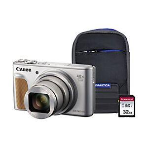 Canon Digital Camera PowerShot SX740 HS 20.3 Megapixel Silver + 1 x 32GB SD Card, 1 x Case