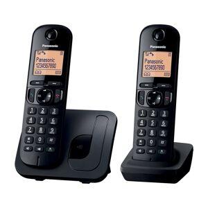Panasonic KX-TGC212E Cordless Telephone Black Twin Handset