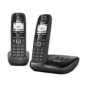 Siemens Gigaset Telephone AS405A Twin Black