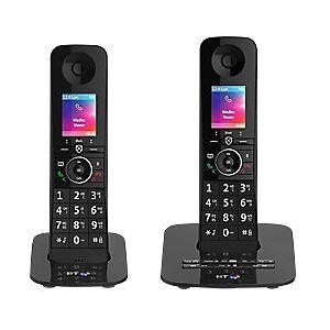 BT Premium Cordless Telephone 90631 Black Twin Handset