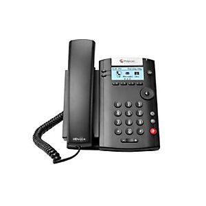 Polycom VVX 201 Corded Phone Black