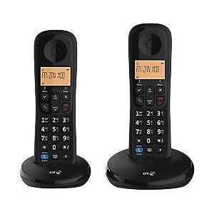 BT Everyday Cordless Telephone 90662 Black Twin Handset
